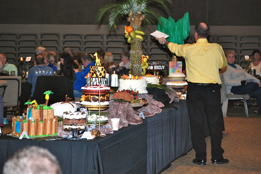 dessert auction jungle theme
